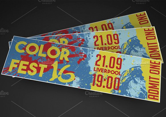 Colourful Event Ticket