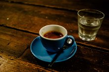 Espresso and water