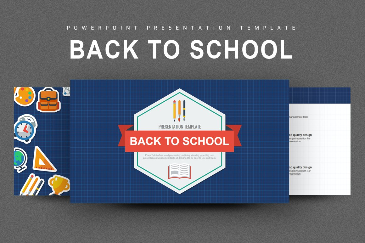 back to school powerpoint presentation templates creative market