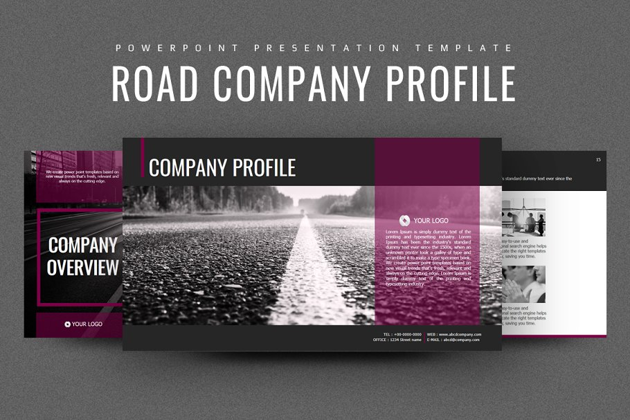 Road Powerpoint Template Strategy Presentation Templates