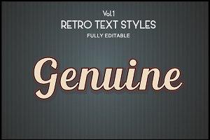 Vintage Retro Text Styles .Ai