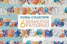 Watercolor rose patterns Vol 4