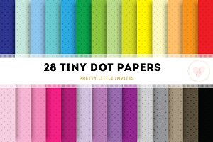 Color Tiny Dot Digital Papers