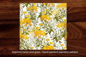imprints tansy and grass