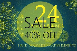 40%OFF Mandalas Ornaments SALE!!!