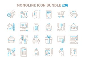 Lineart essentials icon bundle