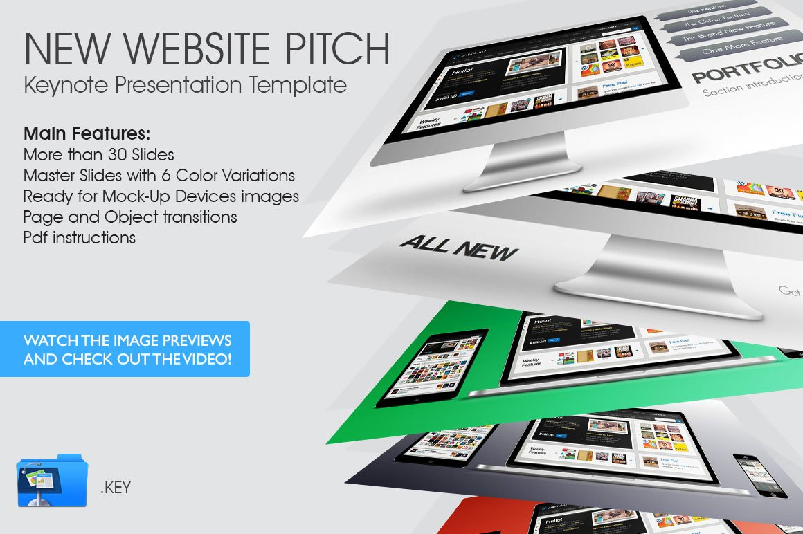 new website pitch presentation templates creative market