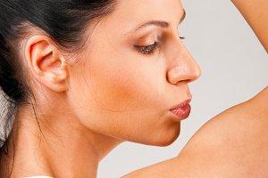 kissing biceps