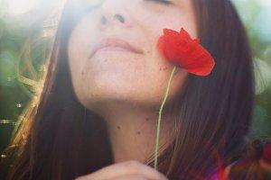 Girl & the poppy