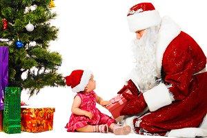 baby and santa claus