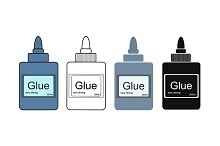 Stationery office glue tube. Vector