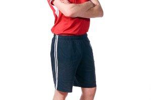 standing soccer player