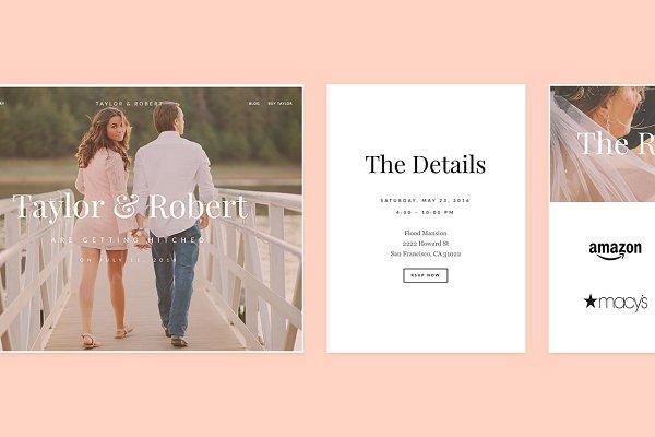 WordPress Wedding Themes: Index Themes - Taylor WordPress Theme