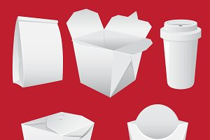White Paper Boxes and cup