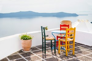 Village style in Santorini, Greece