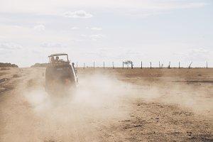 Safari Truck Lifting Dust
