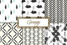 Grunge 6 seamless patterns