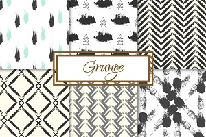 Grunge 6 seamless patterns