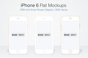 Flat iPhone 6 Mockup