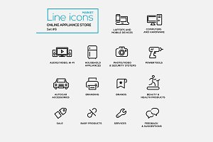 Online Appliance Store - Pictograms