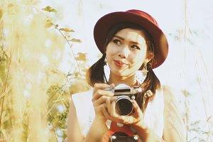 vintage Asian girl