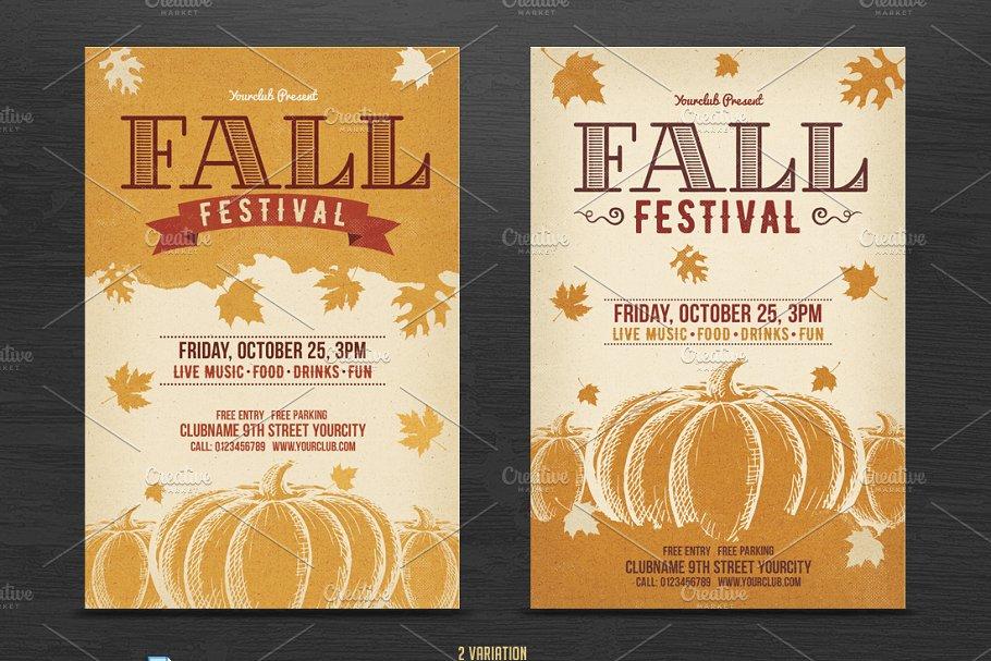 fall festival flyer template flyer templates creative market pro
