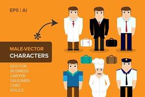 MALE-VECTORS CHARACTERS  EPS | CS4+