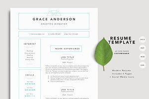 Grace Resume Template - 4 Page