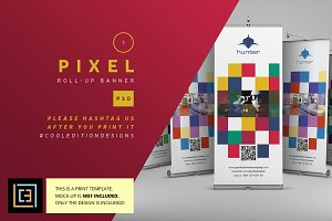 Pixel - Roll-Up Banner  1