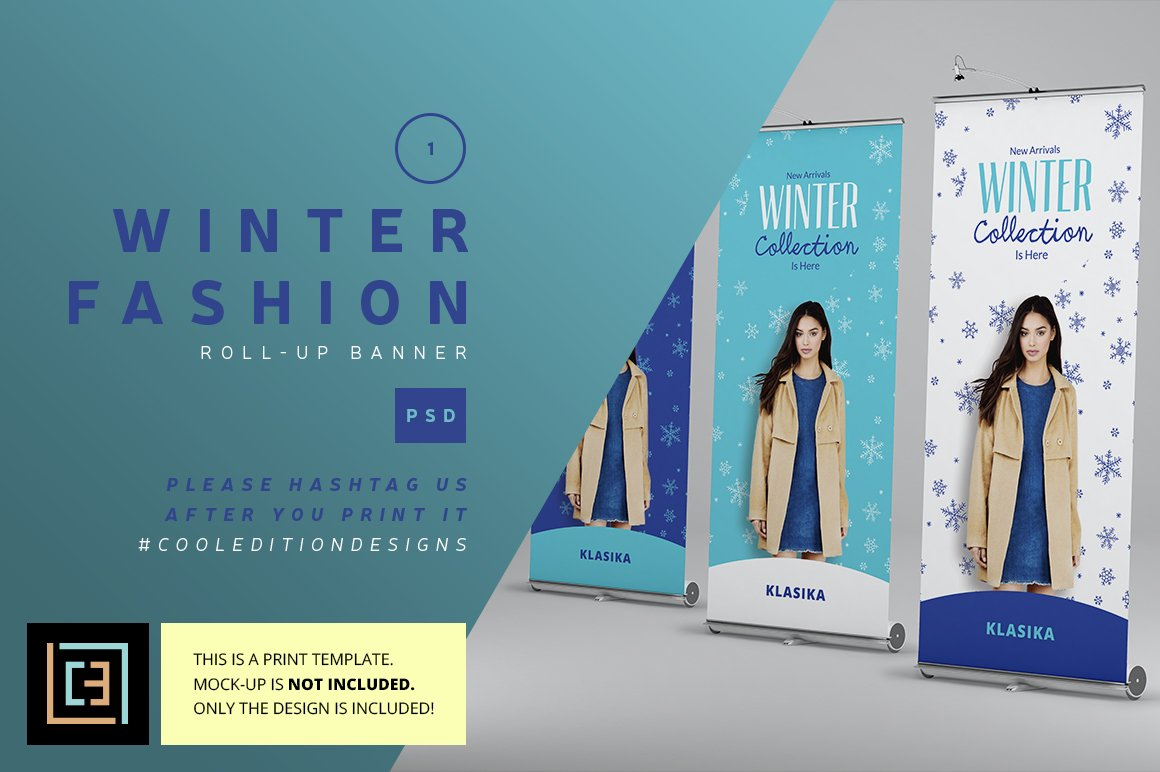 Winter Fashion Roll-Up Banner 1 ~ Flyer Templates ...