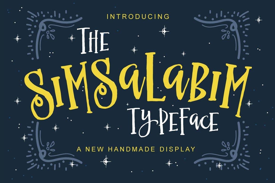 Simsalabim Typeface Display Fonts Creative Market