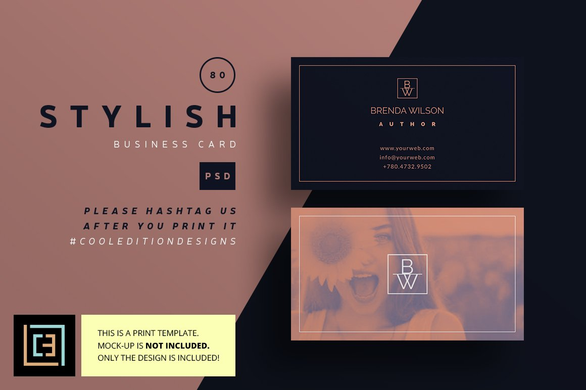 Stylish - Business Card 78 ~ Business Card Templates ~ Creative Market