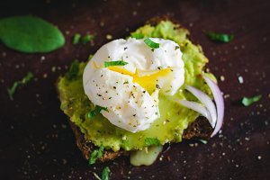 Ooey gooey poached egg toast