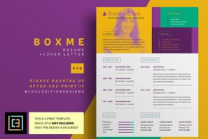 BoxMe - Resume / CV - 2 pack