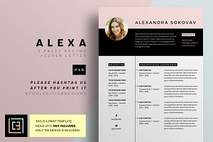 Alexa - Resume / CV - 3 pack
