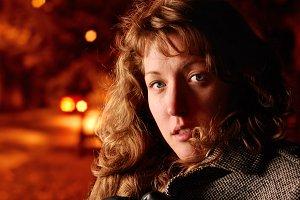 woman on a night street
