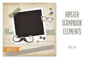 Hipster scrapbook card