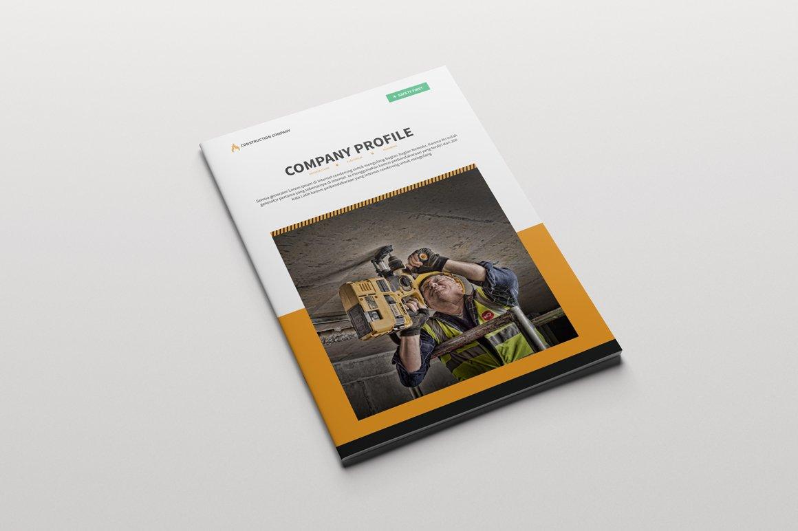Brochure construction company brochure templates for Company brochures templates