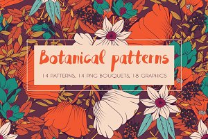 Botanical patterns and graphics