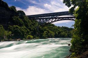 Niagara River flows under Whirlpool