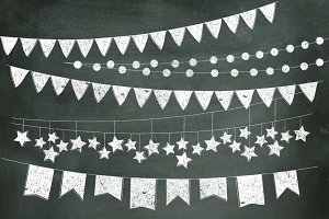 Chalkboard Bunting Banners
