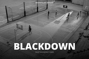 BlackDOWN 24 Photoshop Action