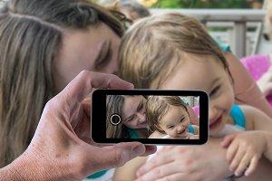 Images taken through phone