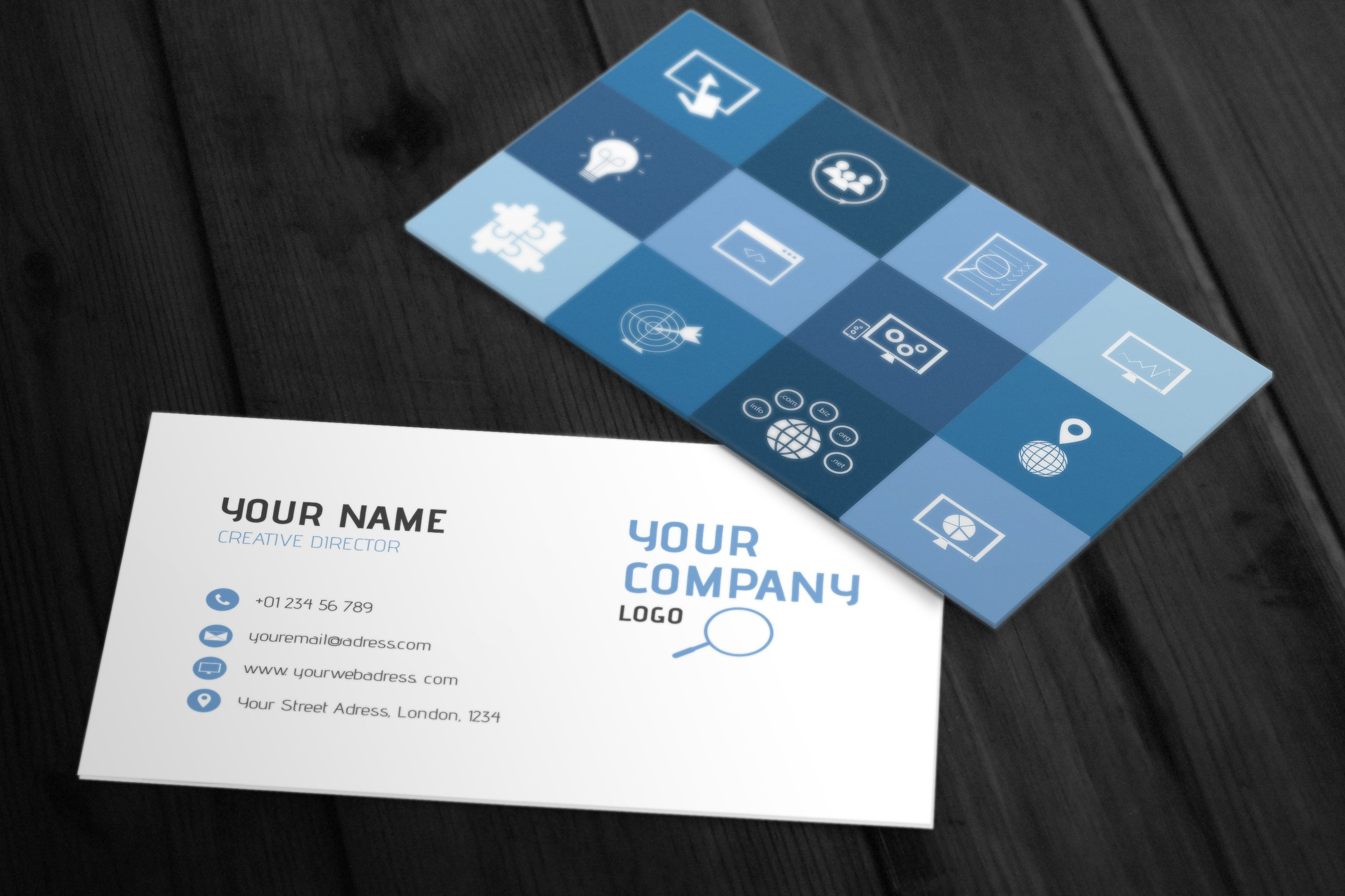 3 SEO Business Card Templates ~ Business Card Templates ~ Creative ...