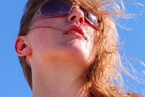 woman against sky