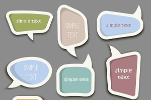 Speech bubble cut paper vector