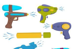 Water gun songkran festival vector