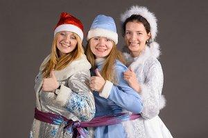 three snow maidens