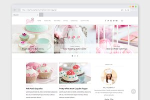 "Baking WordPress Theme ""Glacé"""