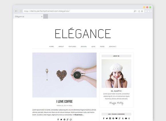 "Minimal WordPress Theme ""Elégance"""